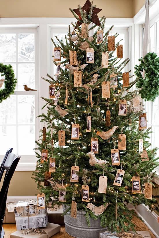 Decoração rústica de Árvore de Natal