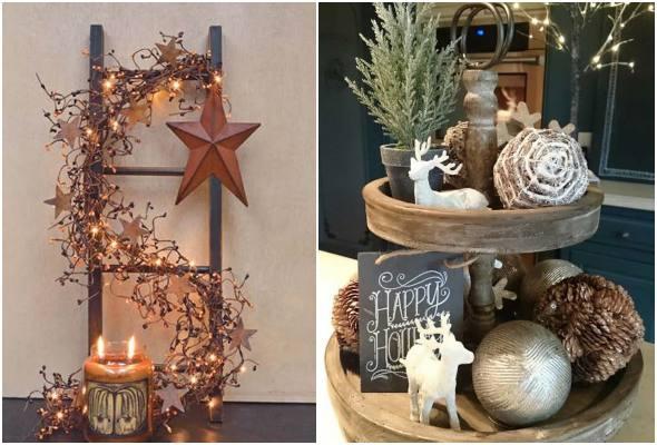 Decoração rústica de Natal para a casa