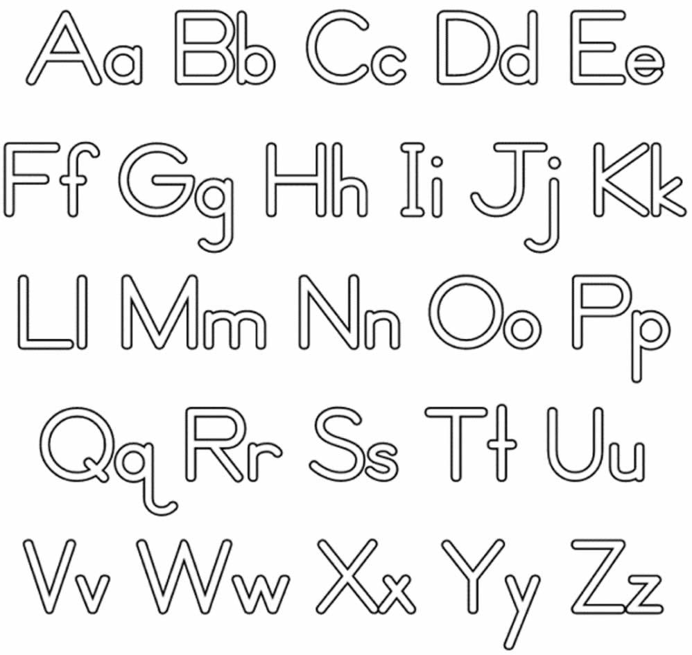 Lindos desenhos das letras do alfabeto para colorir