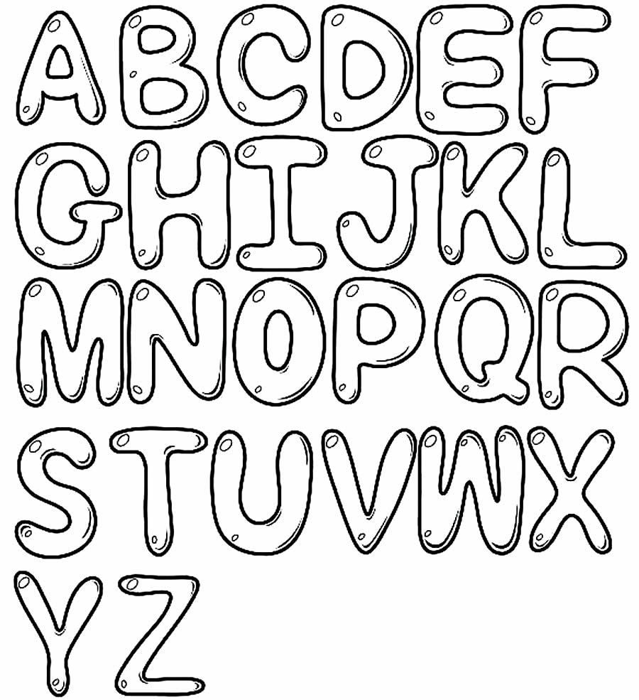 Desenhos das letras do alfabeto para colorir
