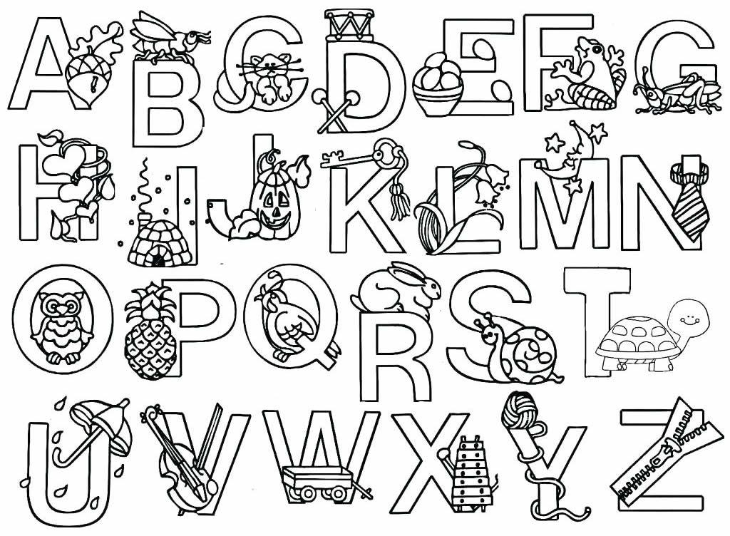 Desenhos das letras do alfabeto para pintar