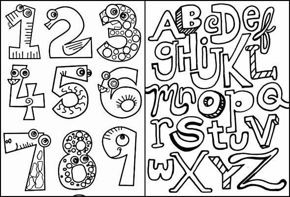 Desenhos educativos para imprimir e colorir