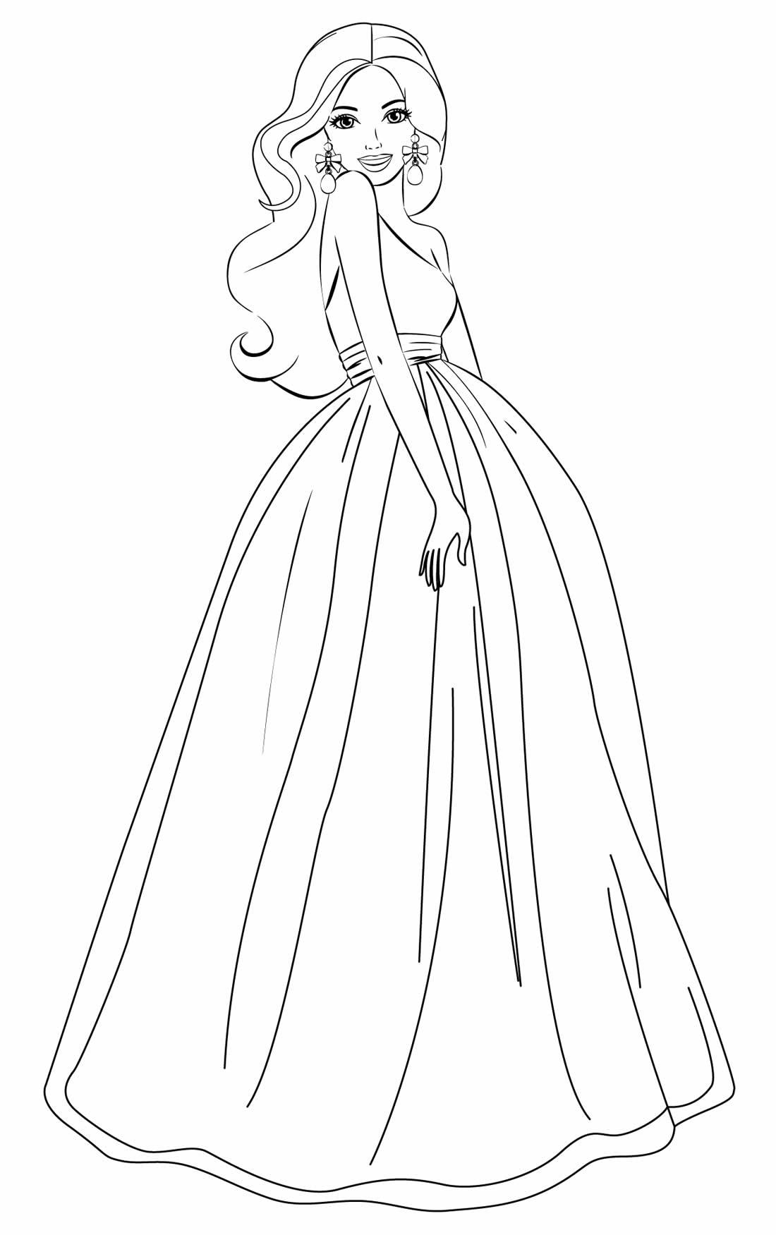 Desenho para colorir da Barbie