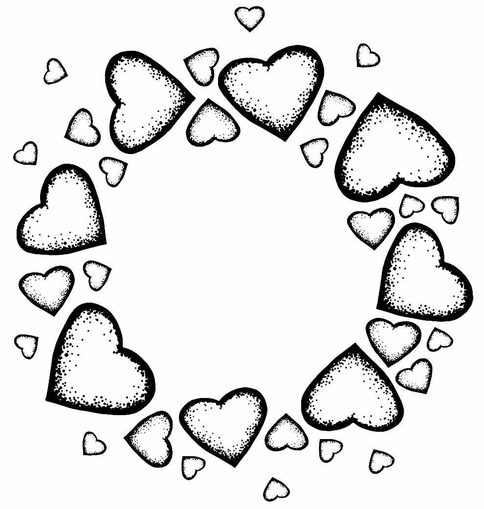 Imagem de corações para colorir