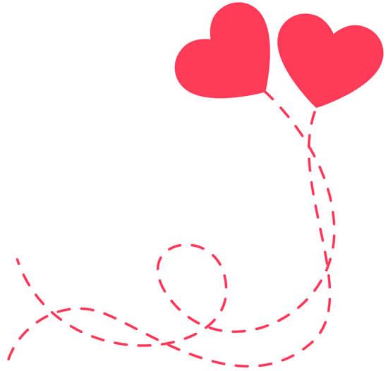 Desenho de Corações