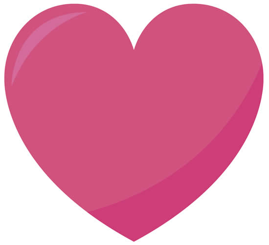 Desenho colorido de coração