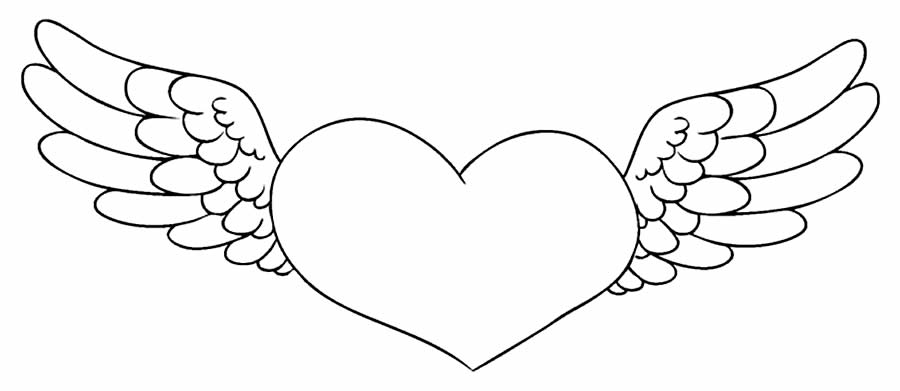 Desenho de coração para pintar