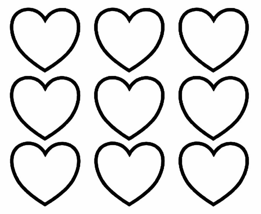 Desenhos de corações para colorir
