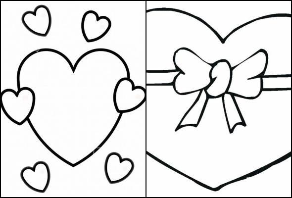 Desenhos de coração para colorir