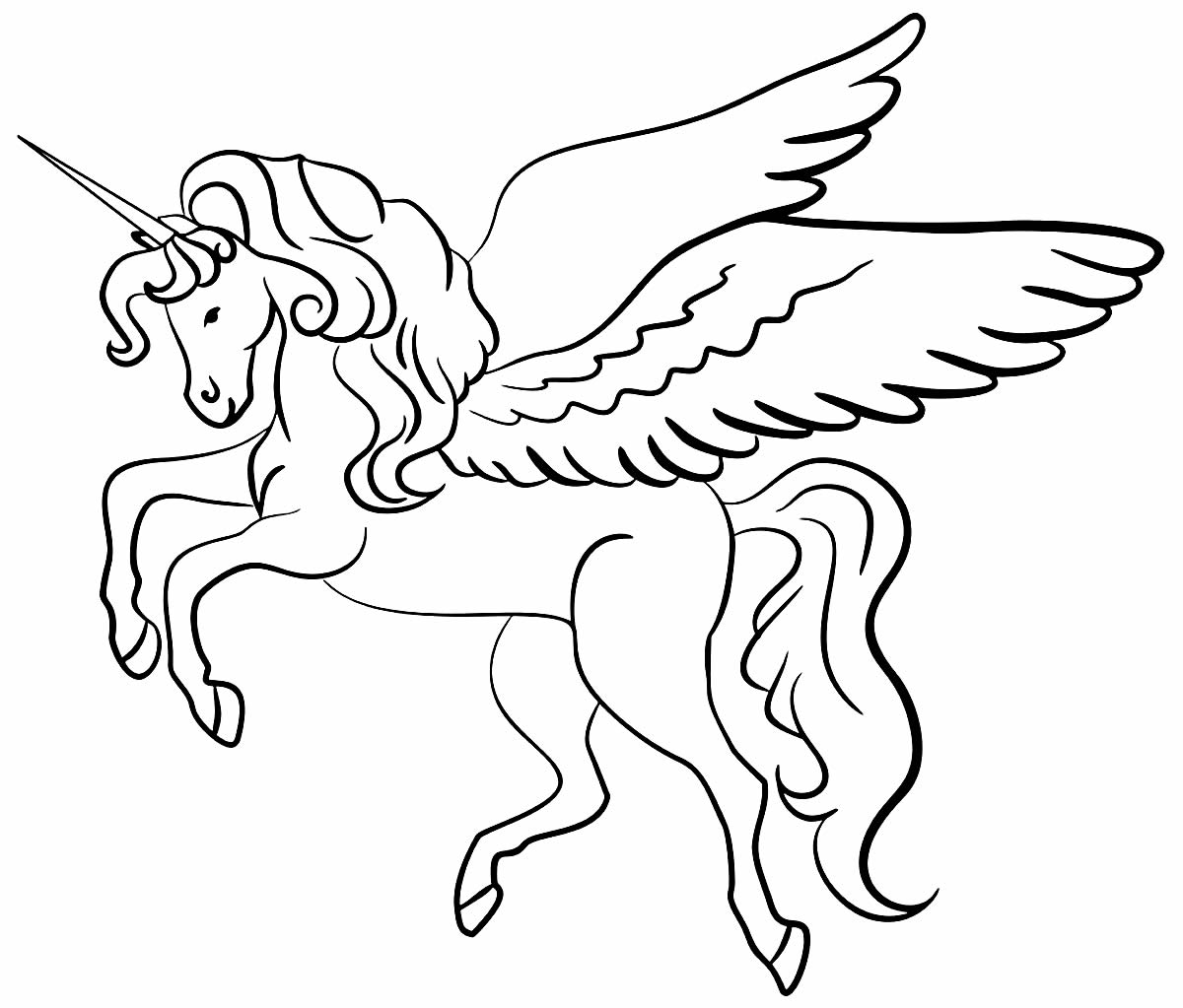 Desenho de Unicórnio para colorir