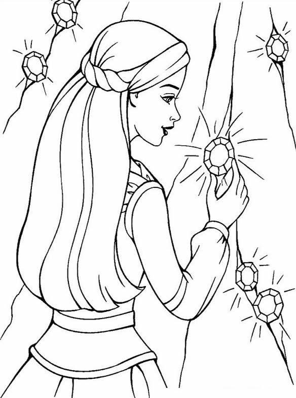 Desenho da Barbie para pintar
