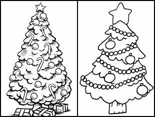 Moldes de Árvore de Natal para pintar