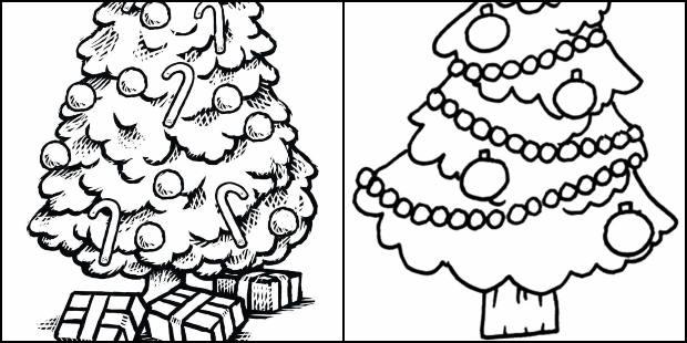 Moldes De Arvore De Natal Para Pintar E Colorir Como Fazer Em Casa
