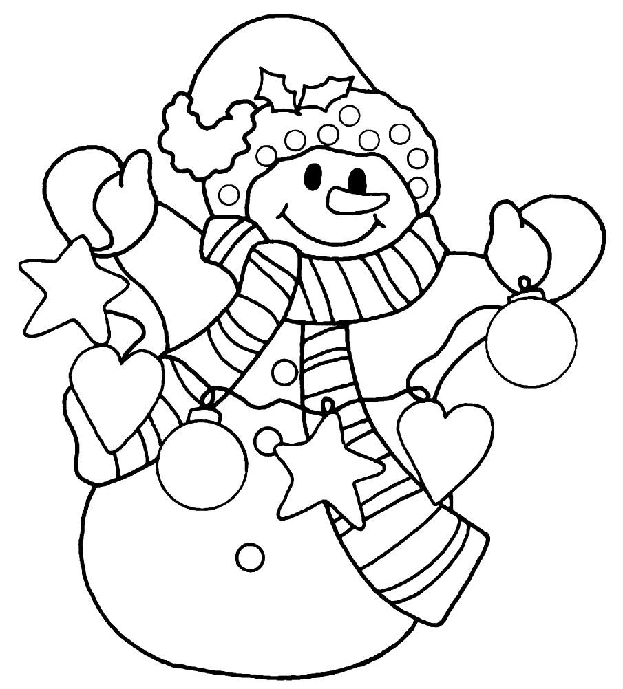 Página para colorir de natal