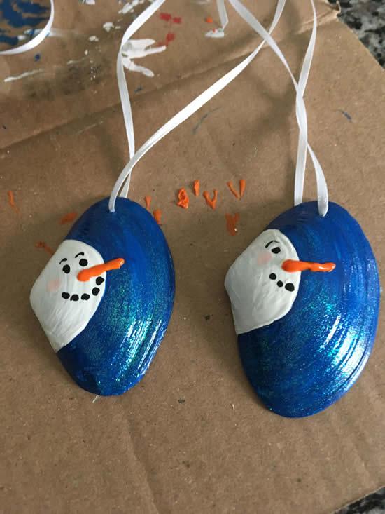 Decoração com conchas para o Natal