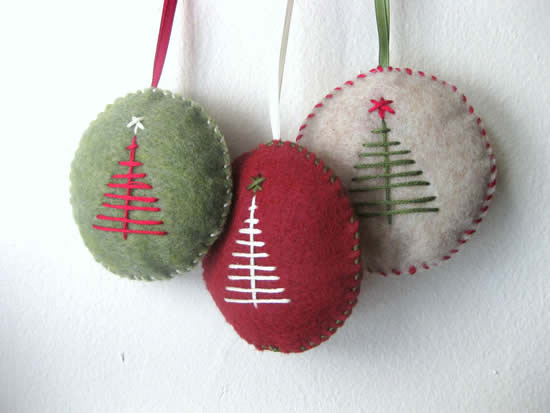 Decoração em feltro para Árvore de Natal