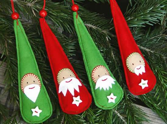 Enfeites de feltro para Árvore de Natal