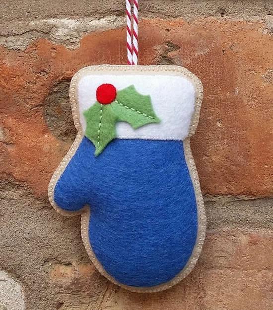 Decoração de feltro para o Natal