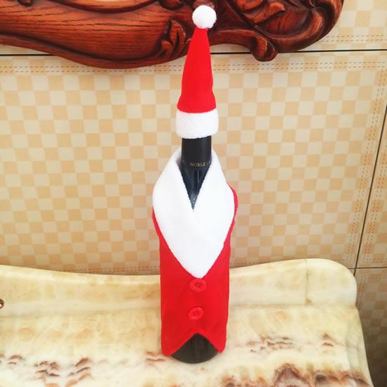 Roupinhas de tecido para garrafas no Natal