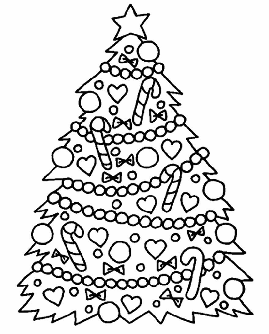 Molde de Árvore de Natal para imprimir