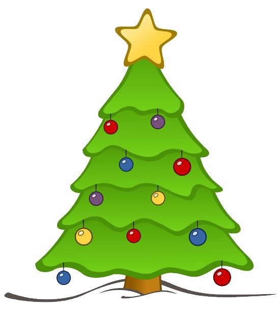 Molde colorido de Árvore de Natal