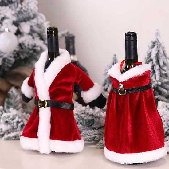 Roupinhas de Papai Noel para garrafas