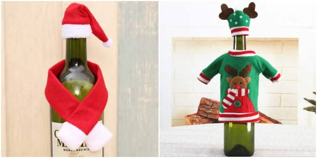 Roupinhas de Natal para garrafas