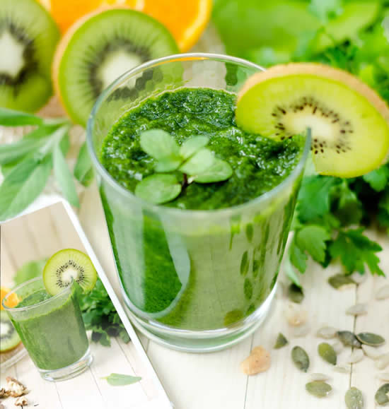 Receitas de suco verde detox