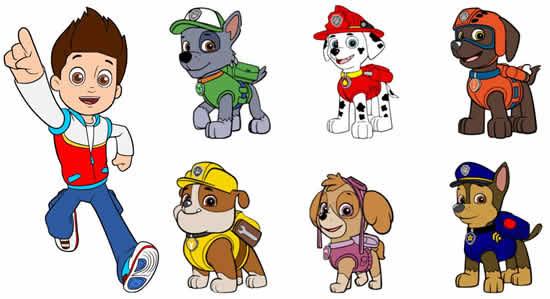 Desenho para colorir de Patrulha Canina