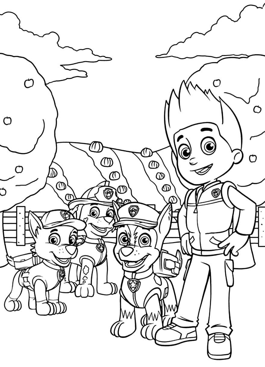 Imagem para colorir da Patrulha Canina