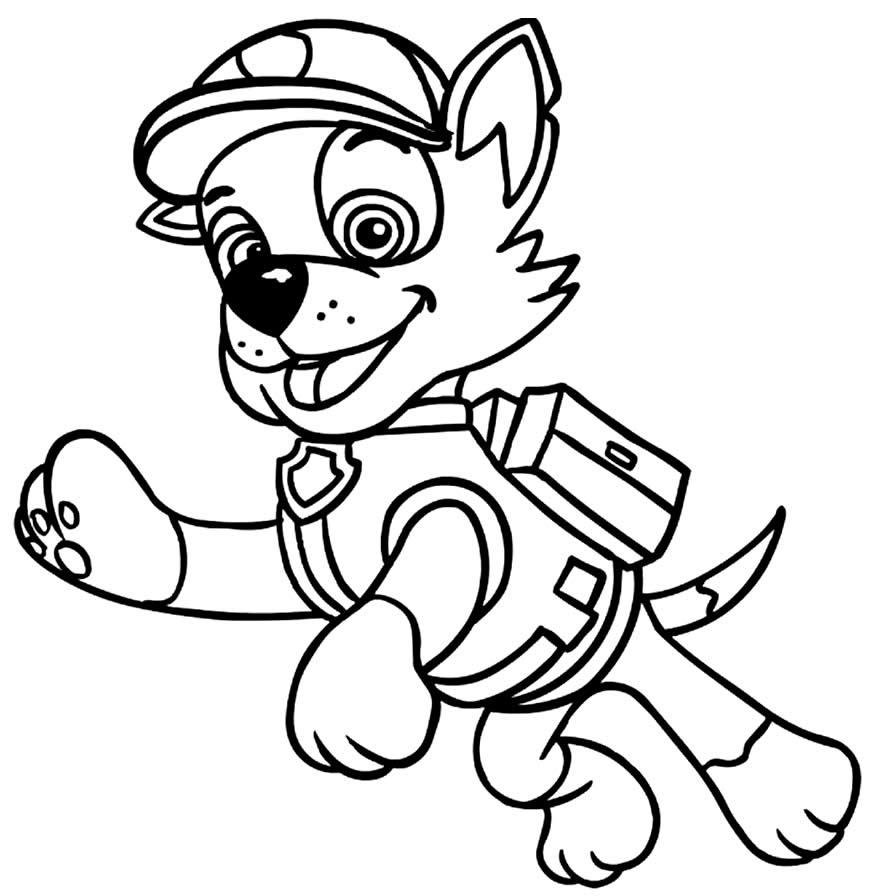 Desenho para colorir da Patrulha Canina