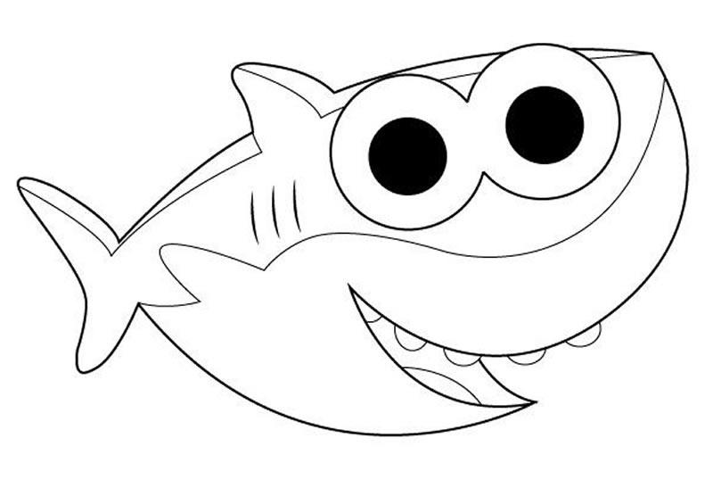 Imagem de Baby Shark para colorir