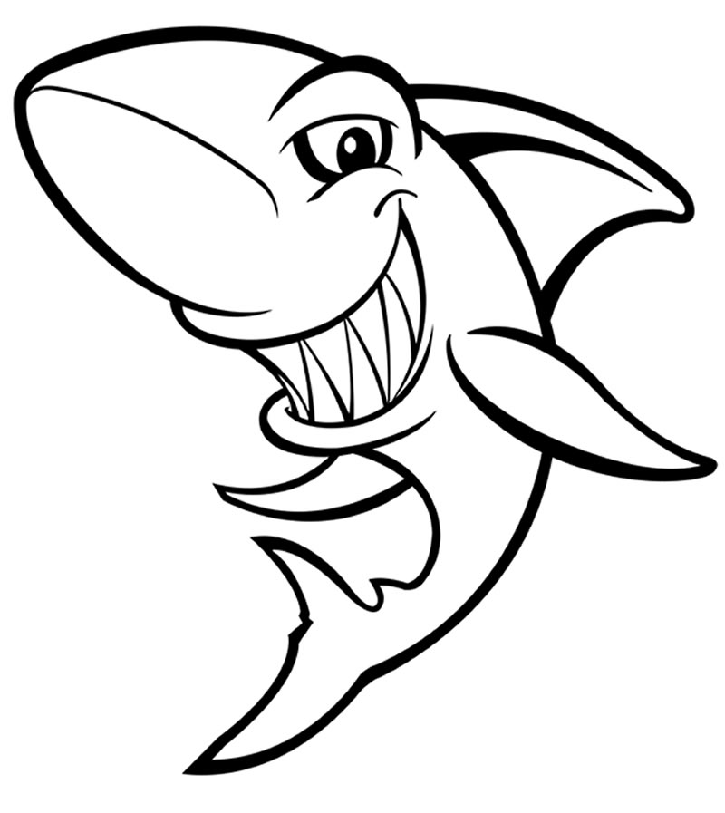 Desenho de Baby Shark para colorir