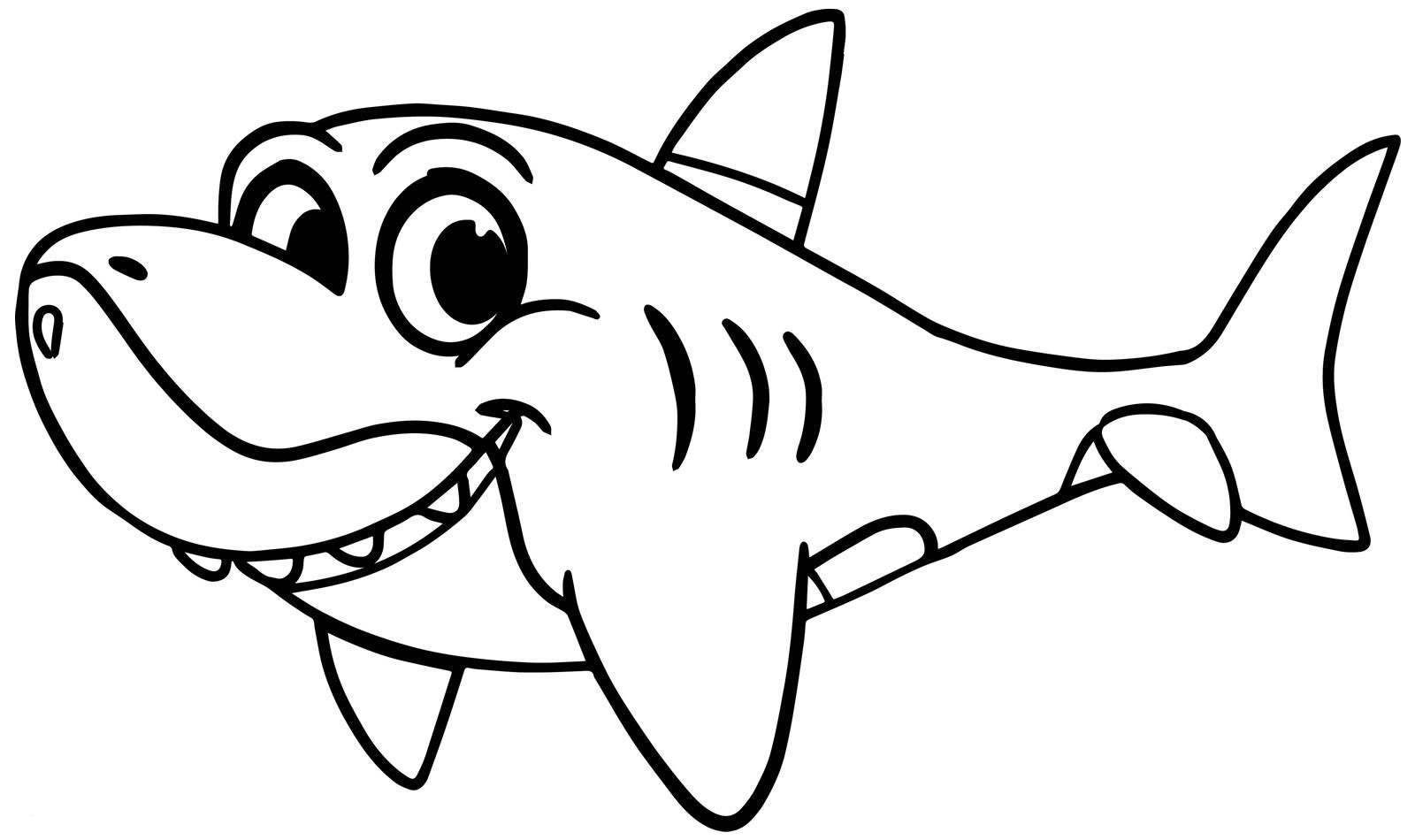 Imagem de Baby Shark para pintar