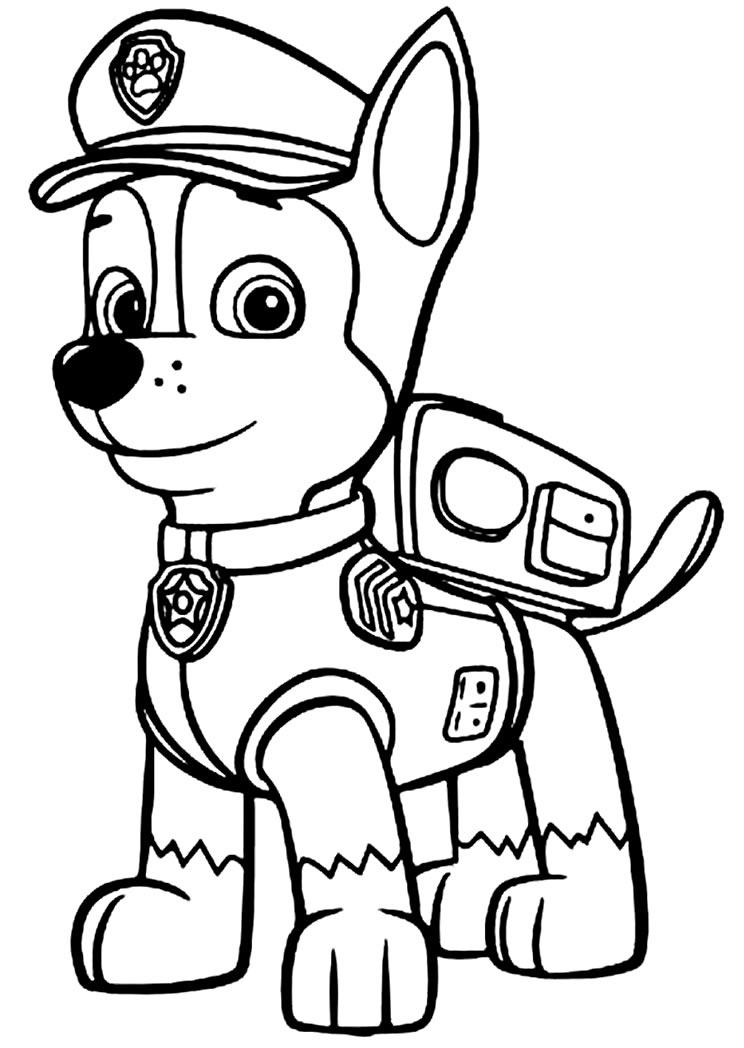 Desenhos de Patrulha Canina para colorir