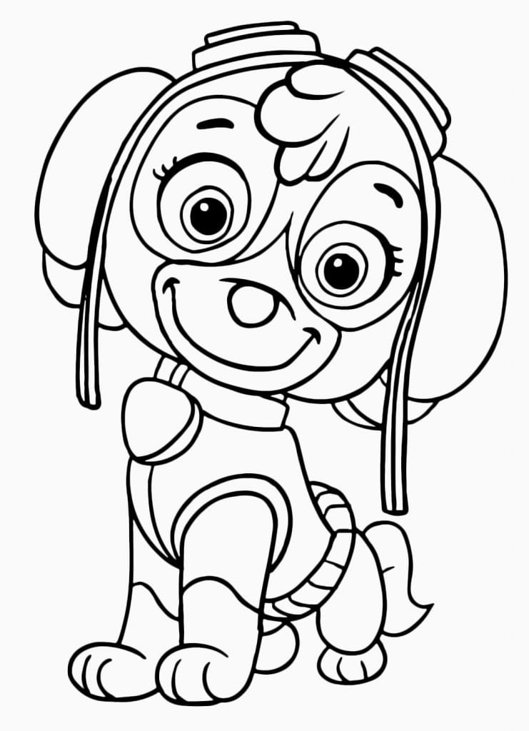 Desenhos de Patrulha Canina para pintar Desenhos para pintar infantil