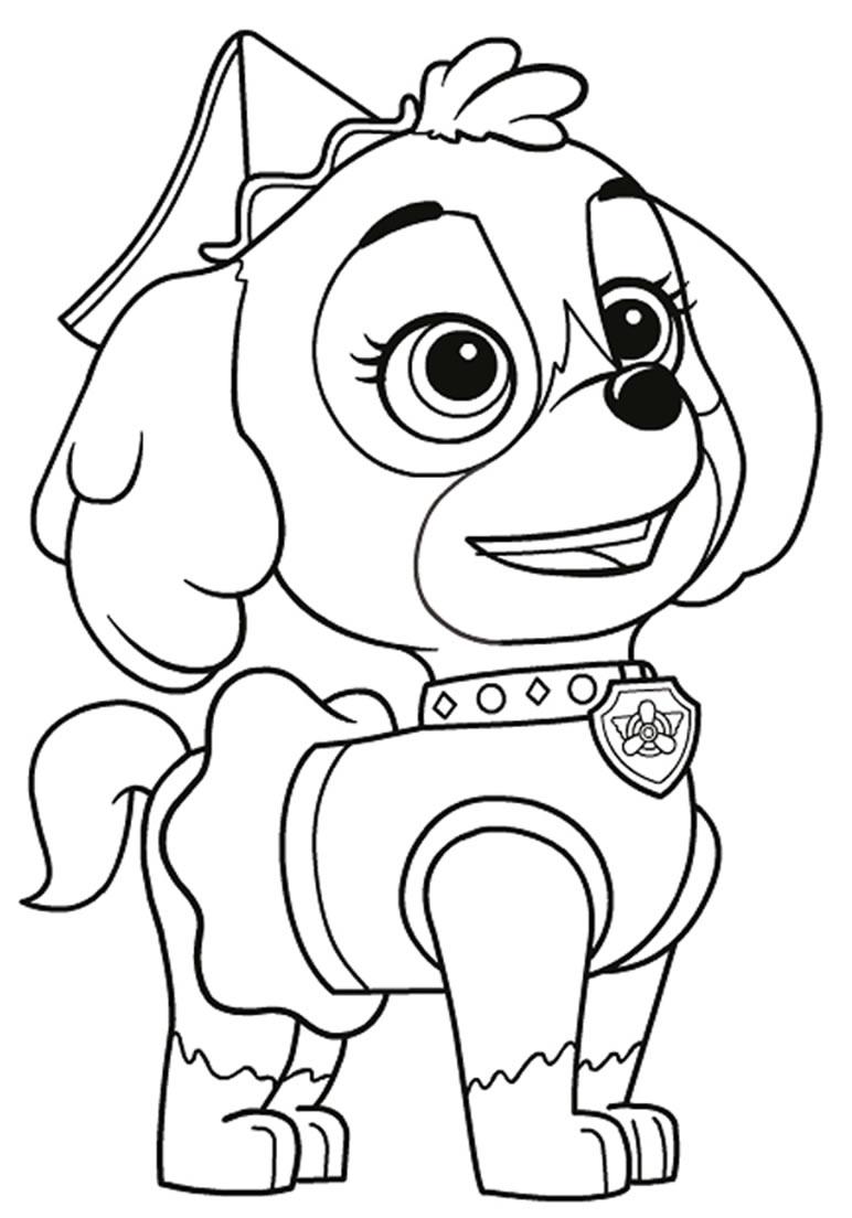 Desenhos de Patrulha Canina para pintar