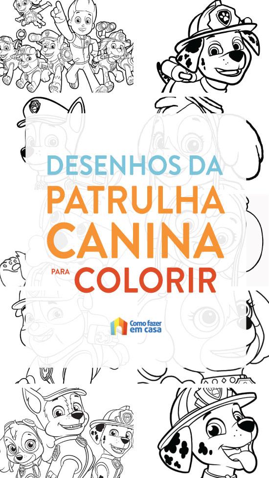 Desenhos de Patrulha Canina para imprimir e colorir