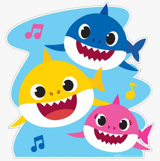Molde Colorido de Baby Shark