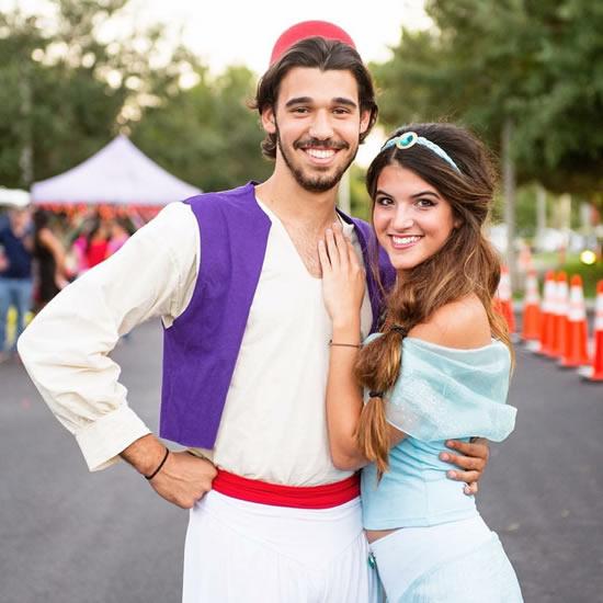 Ideia para fantasia de casal de Aladin e Jasmine