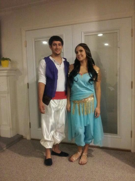 Fantasia de casal de Aladin e Jasmine