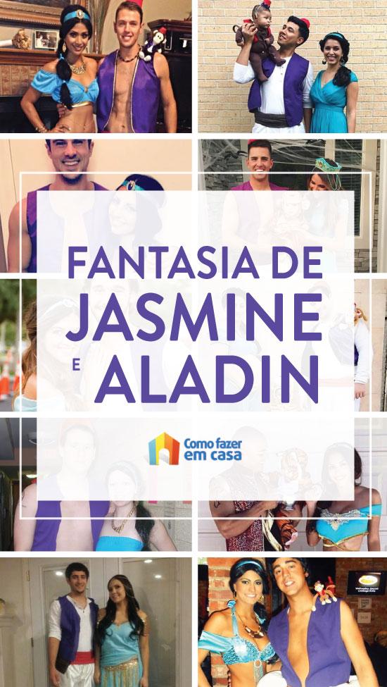 Fantasia de casal para Carnaval - Jasmine e Aladin