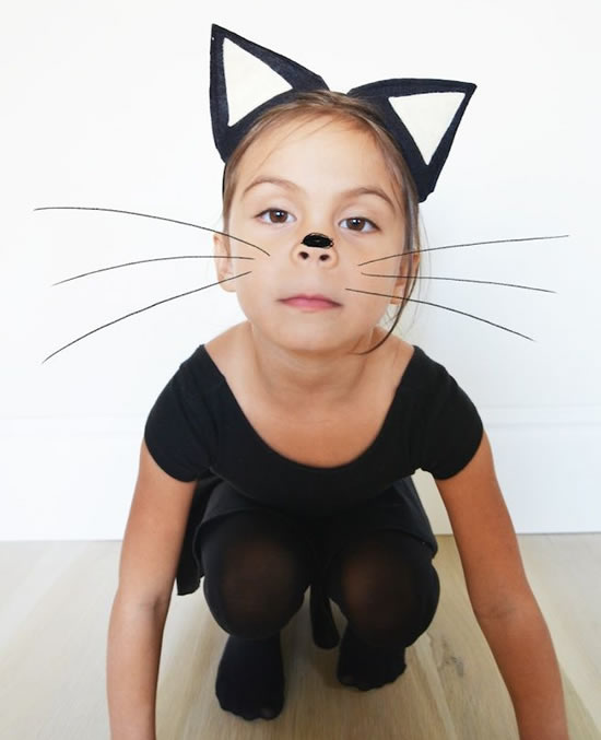 Tiara de gatinha para Carnaval