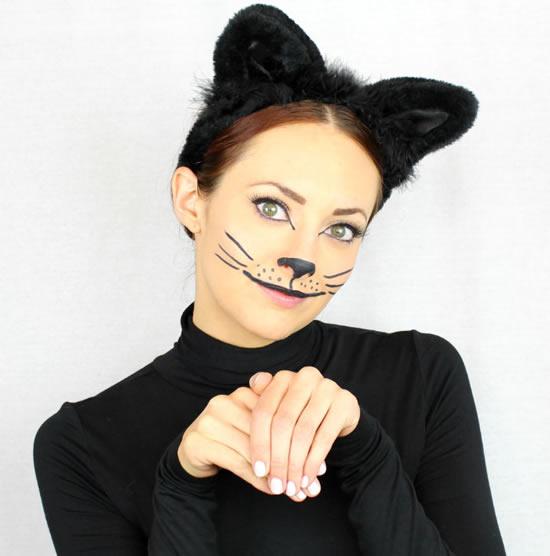 Linda tiara de gatinha para Carnaval