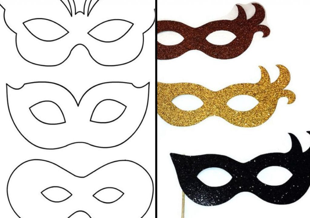 máscaras para imprimir