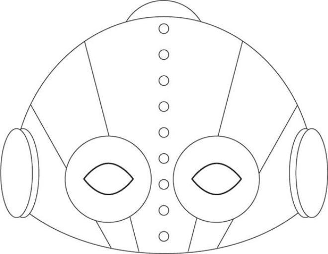 moldes de máscara de carnaval