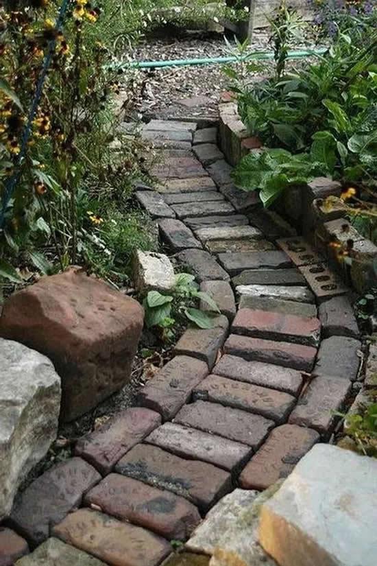 Lindos caminhos com pedras para jardim