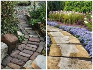 Caminho para jardim com pedras