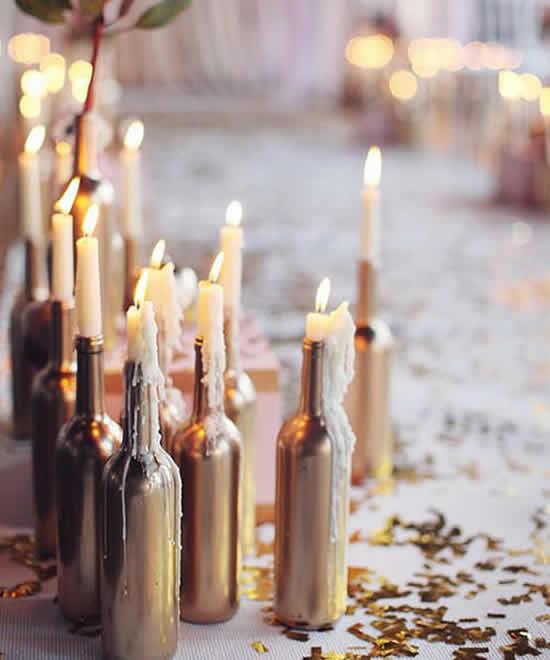 Dicas para decoração de casamento com garrafas
