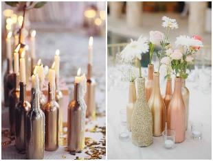 20 ideias de decoração com garrafas para casamentos
